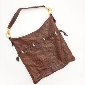 André Oliver Textured Leather Shoulder Bag